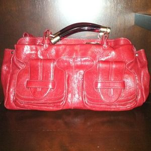Authentic Red Chloe Saskia handbag