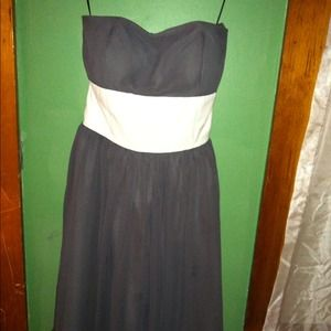 Grey dress with white sash