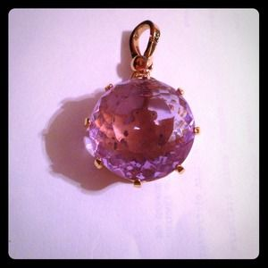 Juicy Couture purple faceted stone.