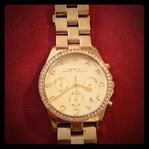 Marc by Marc Jacobs Henry Glitz Watch (gold)