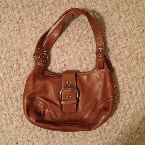 Coach Handbags - Coach brown leather hobo