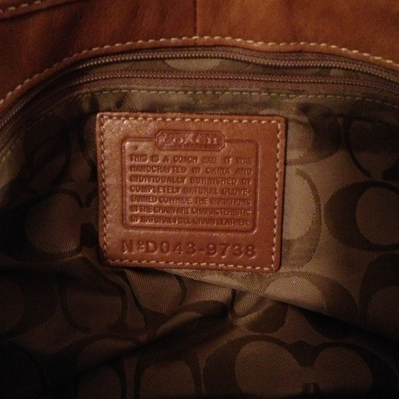 Coach Bags - Coach brown leather hobo