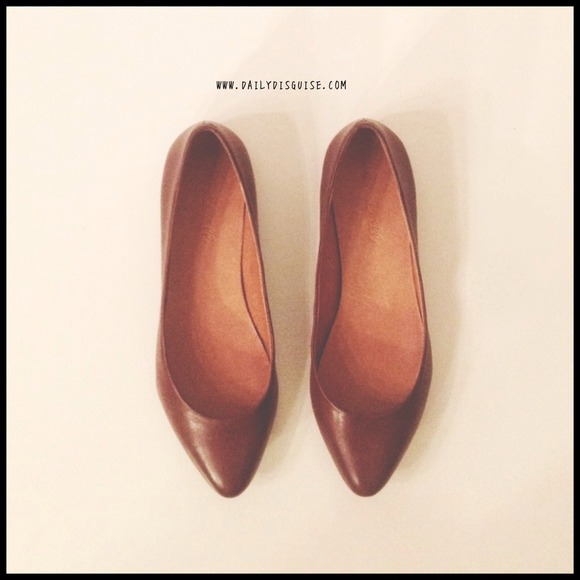 Madewell Shoes - Madewell Sidewalk Skimmer Flats Equestrian Brown