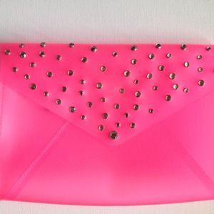 BNWOT Large Envelope Clutch w/ Gem Embellishments