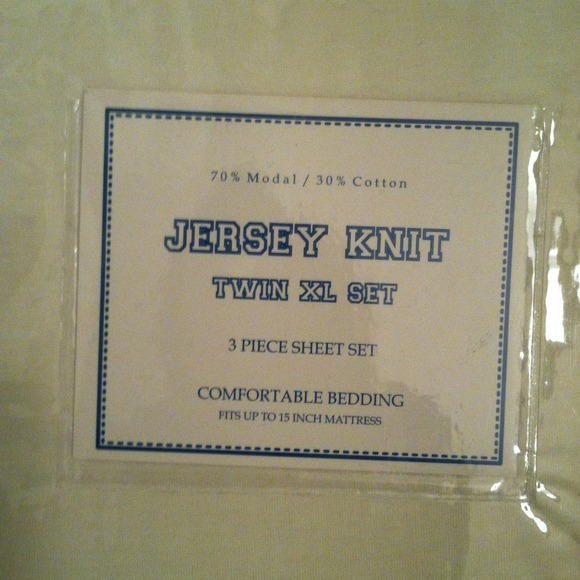 Jersey Knit Other | College Sheets Twin Xl 3piece Ivory | Poshmark