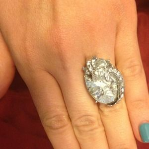 Beautiful Silver Cocktail Ring