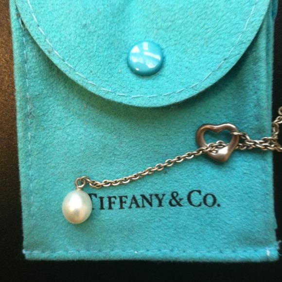 02f91ec3e Tiffany & Co. Jewelry | Reduced Elsa Peretti Open Heart Lariat ...