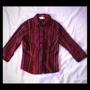 Tops - REDUCED!!!! 3/4 sleeve, striped blouse.