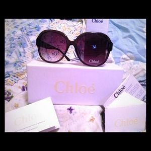 New With Tags Black Chloe Sunglasses
