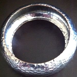 Accessories - Silver color textured bangle bracelet from HM!