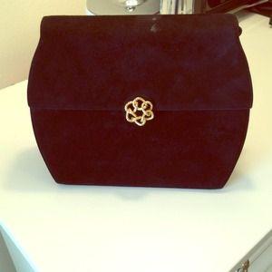Ferragamo Handbags - Black Ferragamo Suede Handbag