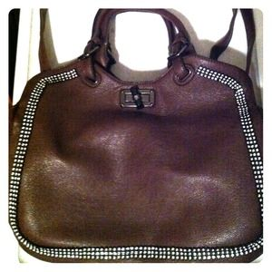 Brown bling purse