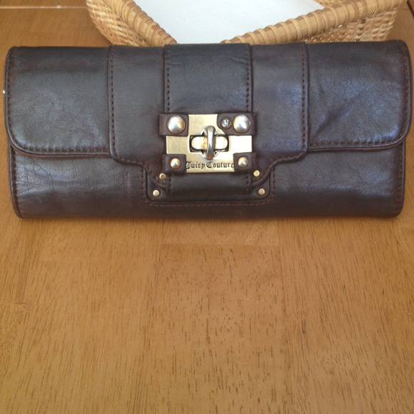 Juicy Couture Clutches   Wallets - Juicy Couture long brown leather wallet 8cdd5b3bc