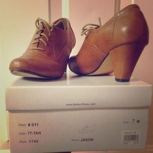 Shoes - Tan Mary Jane style shoe