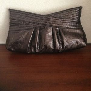Metallic Brown Clutch