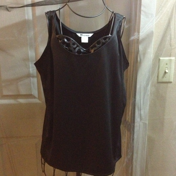 eebed411841fc NEW black sheen tank top by Nvcard Collection