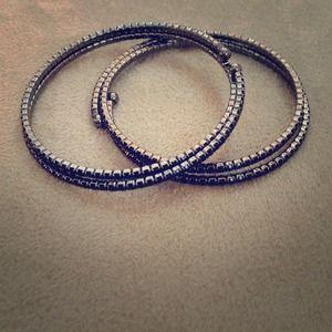 Set of Two Onyx Wrap Bracelets
