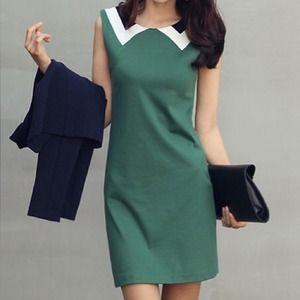 🔴SOLD🔴 Dual Illusion Peter Pan Collar Mini Dress
