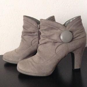 Grey Suede Rampage booties