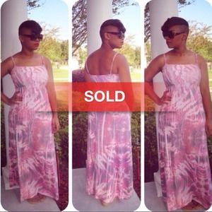 75% off Pink Maxi Dress