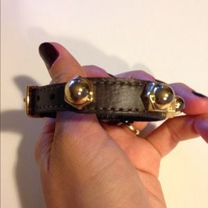 CC Skye Jewelry - CC Skye Dark Brown Leather Bracelet