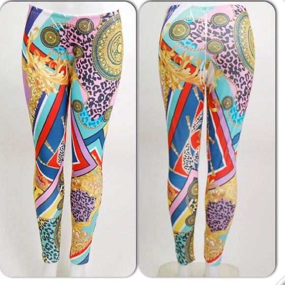 91366c9132898 Versace inspired print PLUS leggings. M_5188d0d3e76a44447100e0e9