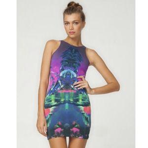 ✨Reduced✨Motel Racer Back mirrored island dress.