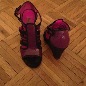 Betsey Johnson Shoes - BetseyVille purple wedges