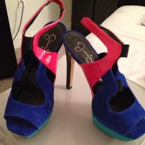 Never Worn Jessica Simpson Color Block Pumps