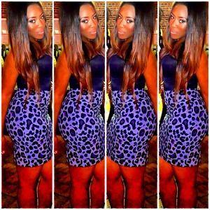 Cheetah print tube skirt