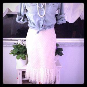 Dresses & Skirts - 🚫BUNDLED🚫Taffeta Tulle Dot Overlay