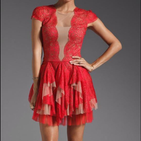 Bcbg Dresses Bcbg Rochelle Dress In Redberry Poshmark