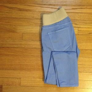 Gap Maternity skinny jeans in dusty blue