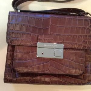 Michael Kors Gia Coffee Leather Shoulder Flap NWT