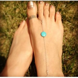 Jewelry - Turquoise and sterling barefoot sandal