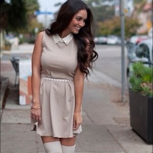 Forever 21 Dresses - SOLD Collared tan dress