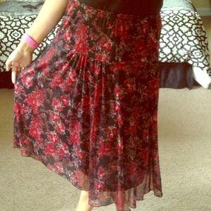 🔴SOLD🔴 Floral Sheer Skirt