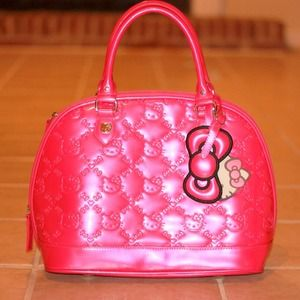 Pink Hello Kitty Embossed Bag
