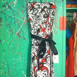 B. Smart Dresses & Skirts - Red and white dress, worn once! Perfect condition.