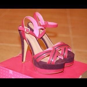 """Shoedazzle """"Krizzia"""" Colorblocked Sandals"""