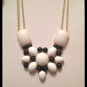 Black and White Deco Necklace