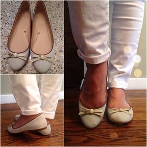 Zara mint pastel  flats with bow