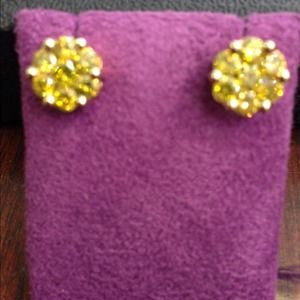 10k yellow gold yellow canary diamond earrings