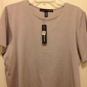 ellen tracy Tops - Linda Allard Ellen Tracy 1X lilac SS tshirt top