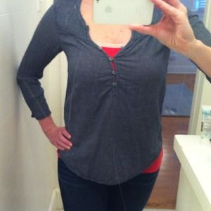 Aerie Chambray Top