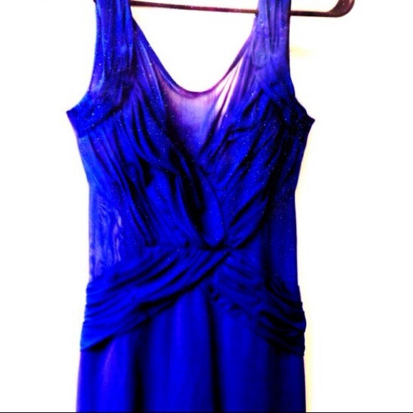 Akira Dresses & Skirts - Sexy blue dress with mesh cut outs