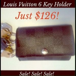 Louis Vuitton Accessories - Louis Vuitton Damier Graphite 6 Key Holder