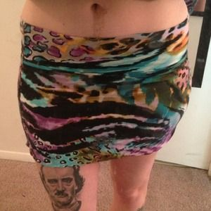 Colorful Lisa Frank inspired bodycon skirt