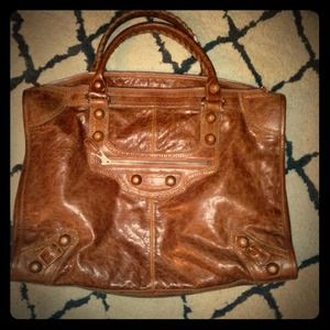 Balenciaga Chestnut Weekend Voyage CGH Bag!