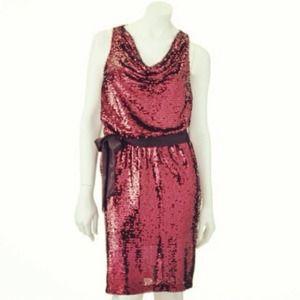 *NWT* XL Red Sequin Cowl Neck Dress - Fierce!!